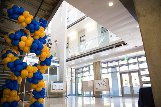 DNA Balloon Structures decorated the new building