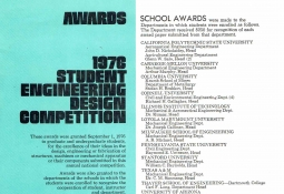 Award List of Competition