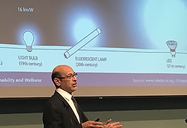 """Umesh Mishra presents the 2018 Faculty Research Lecture titled """"Thank God for GaN."""""""