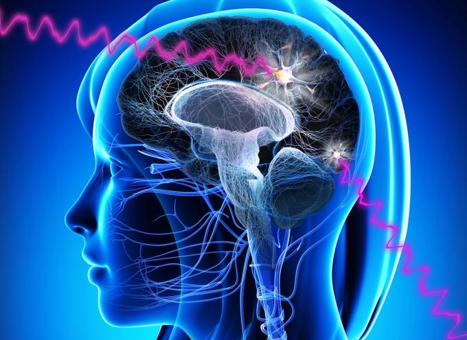 Artists representation of brain activity