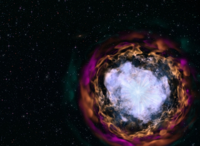 Artist representation of a supernova