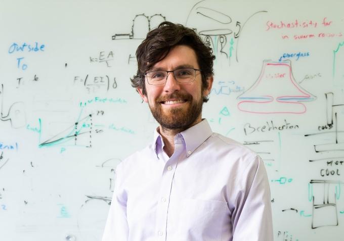 Mechanical engineering assistant professor Elliot Hawkes.