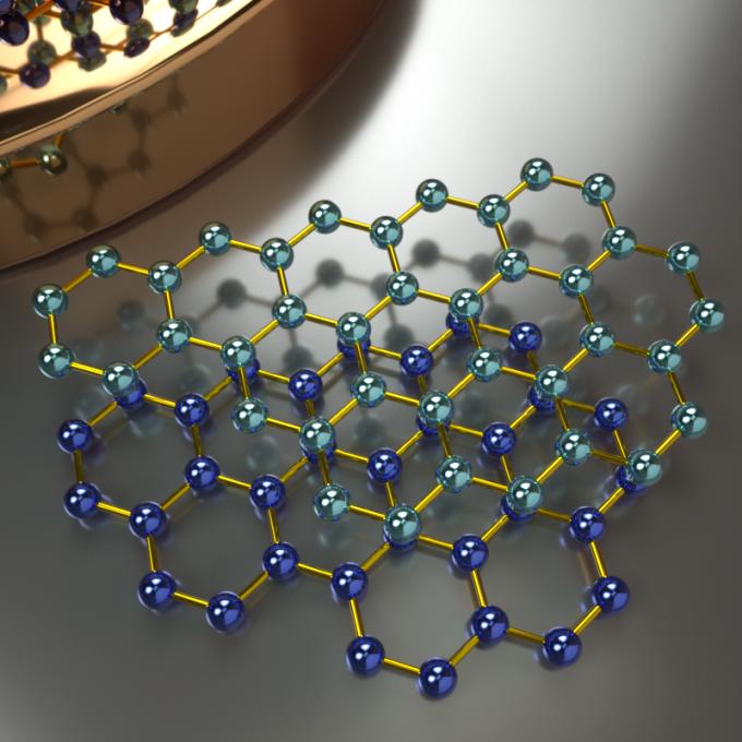 Illustration: concept of graphene molecules