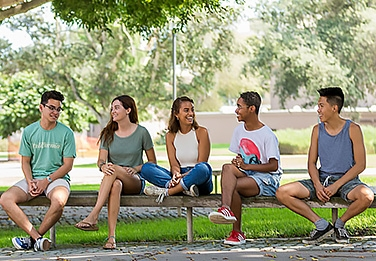 International students enjoy the fresh air at UCSB.