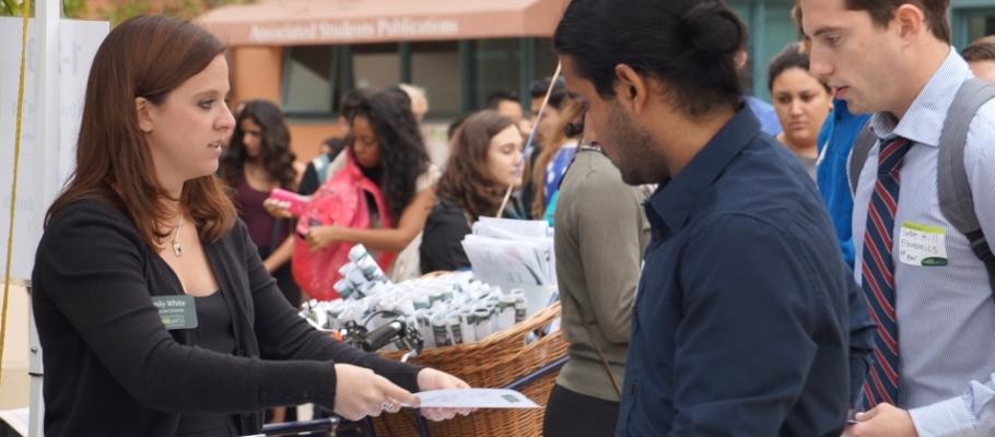 students at career fair