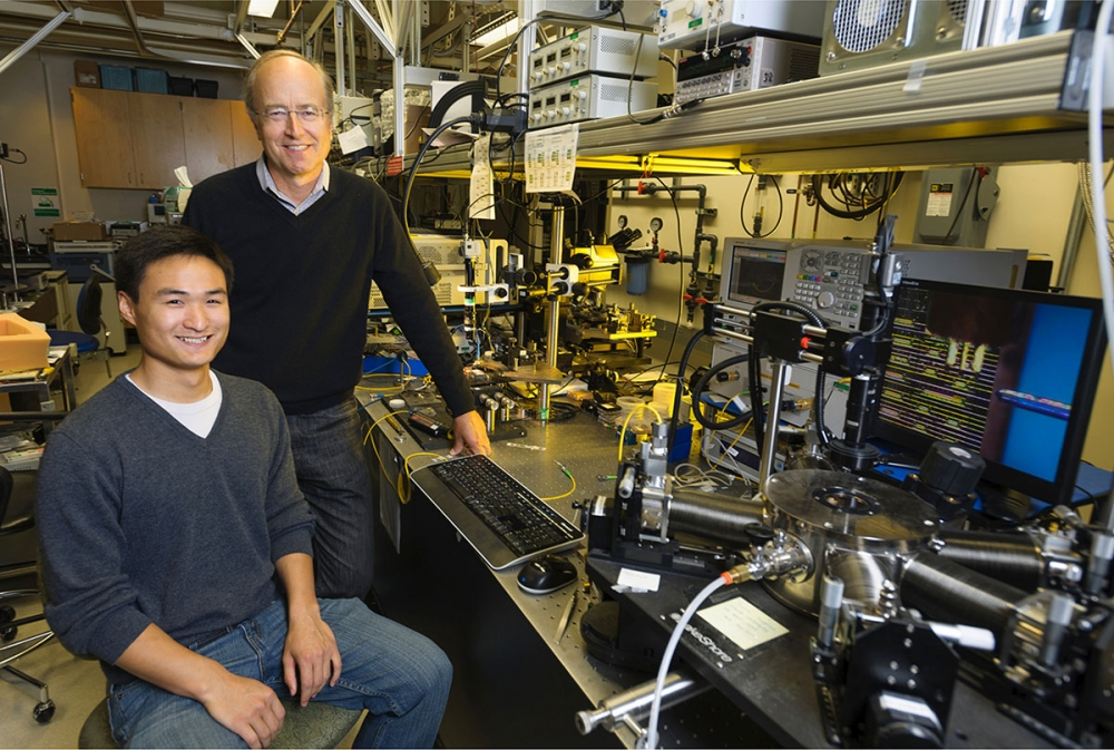 John Bowers and grad student Alan Liu