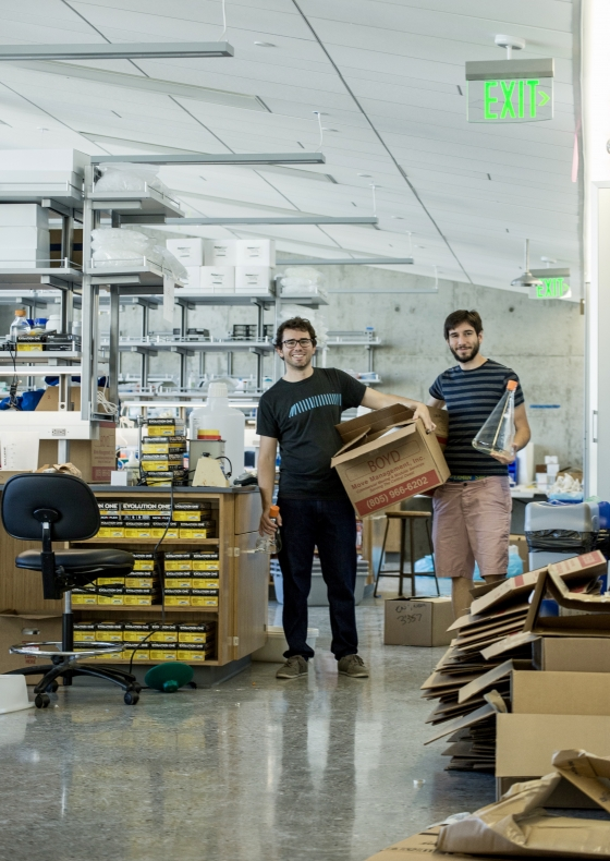 Grad students move into the new research facilities