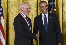 Professor Gossard with President Obama