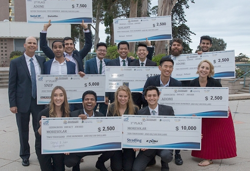 The winning teams at the 2018 TMP New Venture Competition