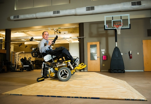 Rory Cooper puts the self-leveling, high-tech MEBot wheelchair through its paces.