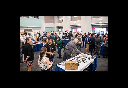 The crowd at the 2017 New Venture Fair
