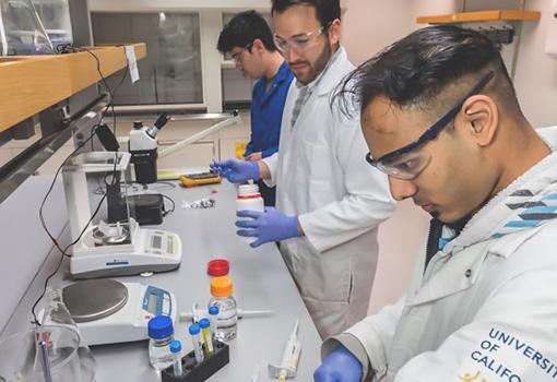 Milo Sensors team members at work in the lab.